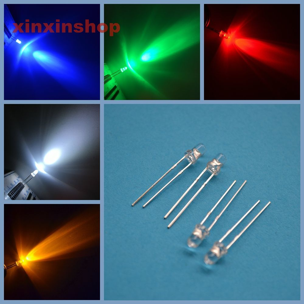 200PCS Diffused LED 3MM YELLOW COLOR YELLOW LIGHT Super Bright