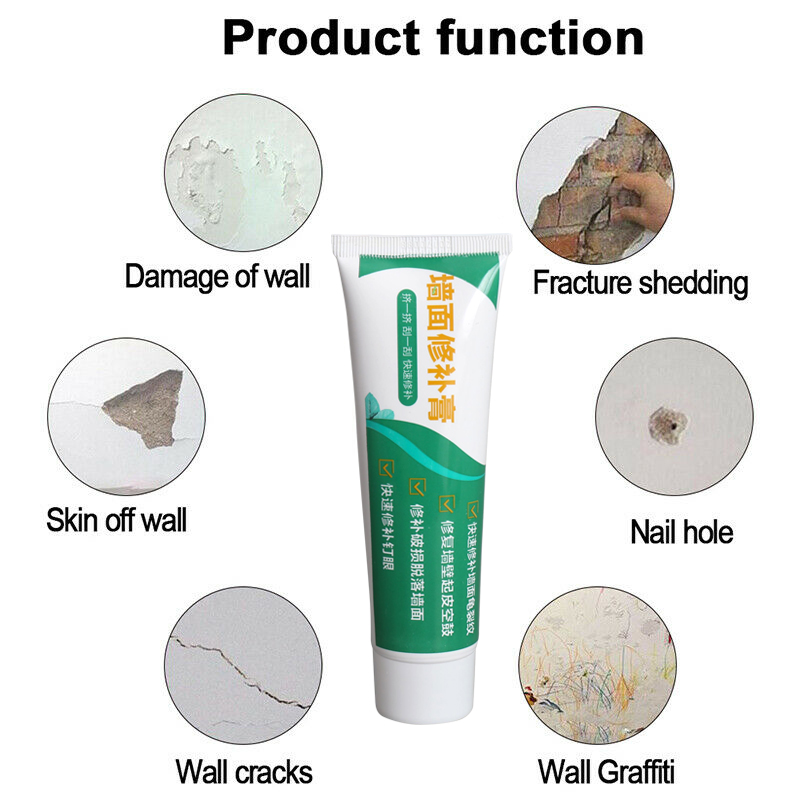 1/2/3pcs 100ml Valid Mouldproof Wall Mending Agent Repair Multifunctional Quick Drying Cream Crack Repairing For Home Kitchen