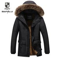 autumn new men's coat mens casual lengthened plus velvet thicken warm coat men's Hooded jackets coat