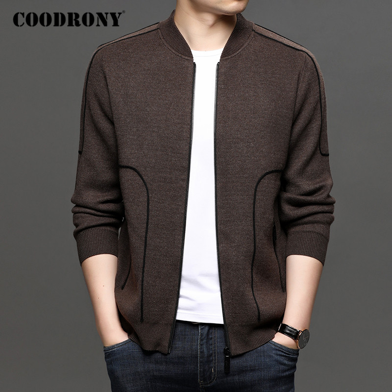 COODRONY Brand Cardigan Men Fashion Streetwear Sweater Coat Men Autumn Winter New Arrival Thick Warm Knitted Cardigans Top C1196