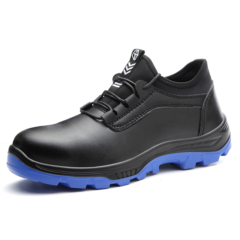 large size men casual steel toe cover work safety shoes genuine leather worker shoe platform tooling security boots protective