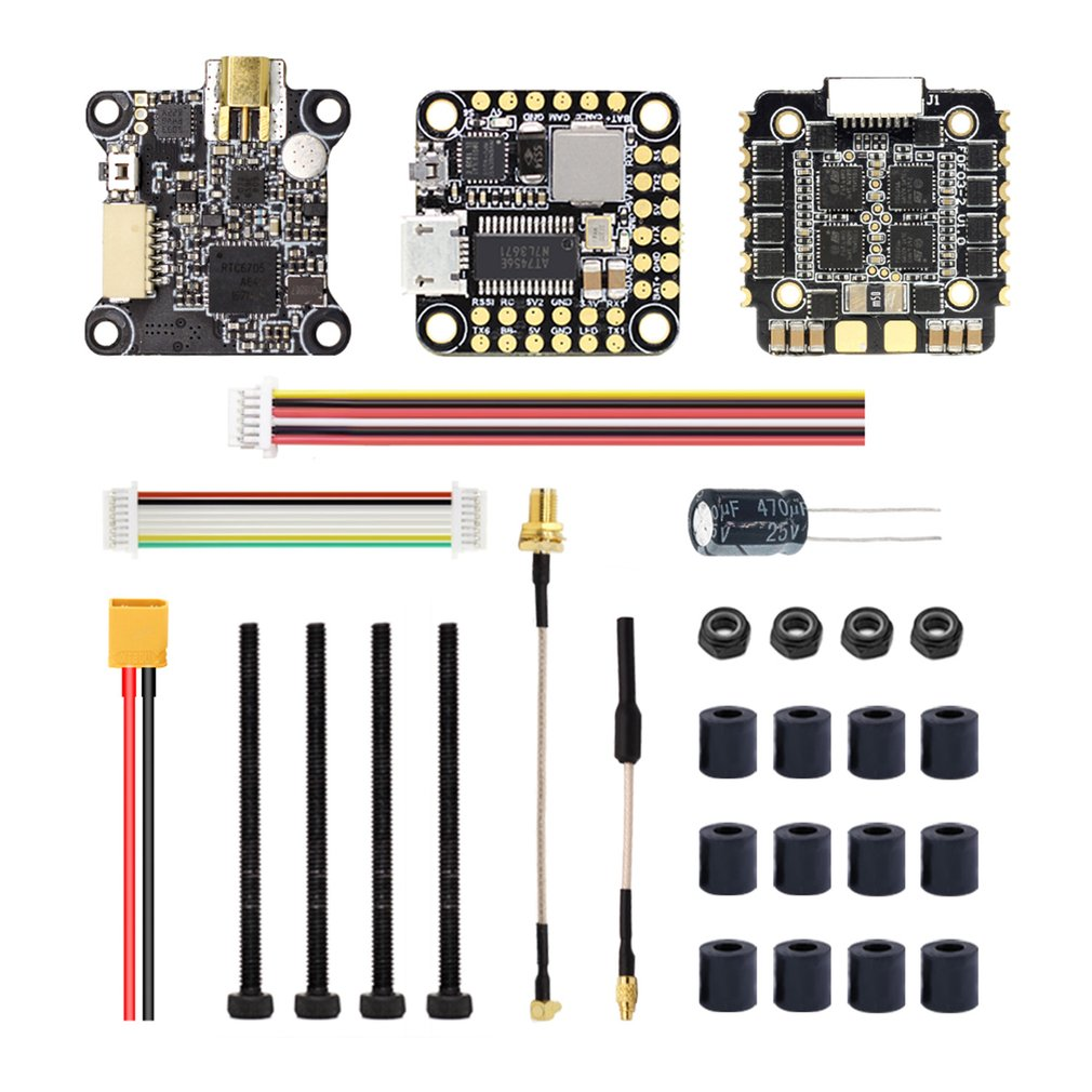 HGLRC FD435-VTX Stack Flytower 20x20 3-6S FD F4 Mini Flight Controller 35A BL32 4in1 ESC FD VTX Mini Video Transmitter