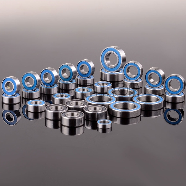 NEW ENRON Blue Ball Bearing 33PCS KIT Metric Rubber Sealed on Two Sides RC Car  FOR Traxxas E Revo Racing 52100 Chrome Steel