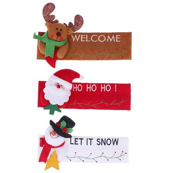 1 sztuk kuchnia drzwi lodówki uchwyt gałka tkaniny obejmuje świąteczne dekoracje tanie i dobre opinie JETTING CN (pochodzenie) Włosy syntetyczne Door Knob Covers PRINTED