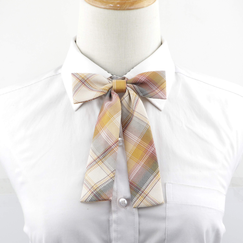 Hot Sale Chic College Striped Ladies Cute Bowtie Women School Girl Student Uniform Formal Suit Accessories Cravat Butterfly Knot
