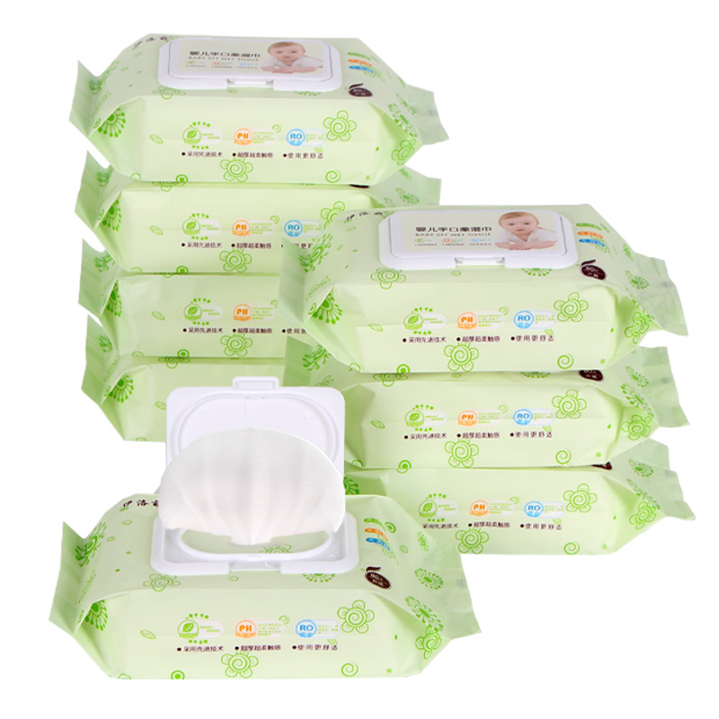 Wholesale Special Price Baby Wet Wipe 80 Pumping With Wet Wipes 100 Hand-Mouth Infants Adult Large Packaging Wipe 6