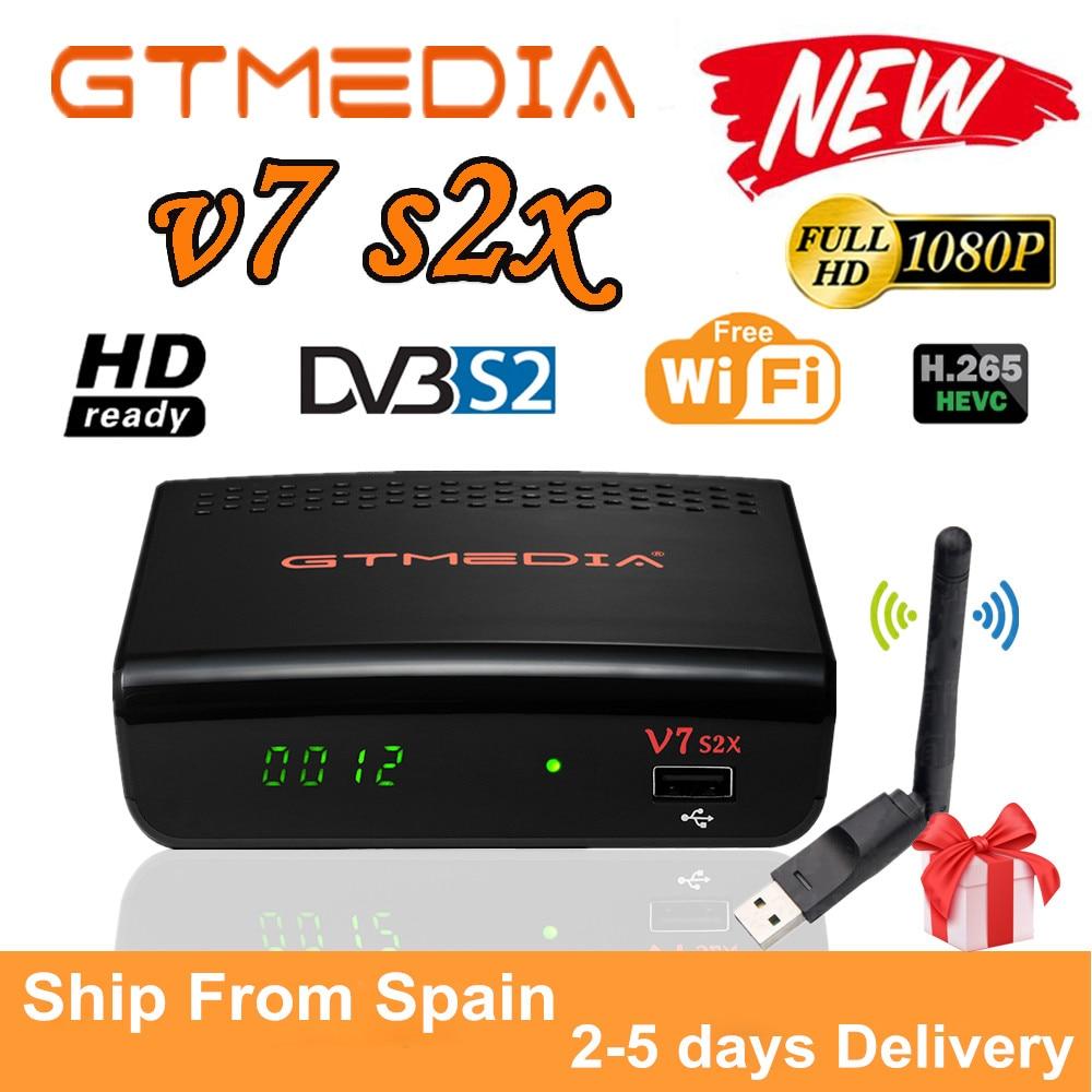 Rezeptor gtmedia v7 s2x enthalten USB wifi upgrade form gtmedia v7s hd DVB-S2 Satellite empfänger Gtmedia v7s2x als Gtmedia V8 nova