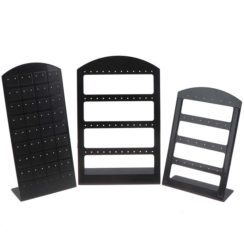 1 Pc Plastic Stud Earring Stands Hooks Jewelry Display Show Packaging Cards Jewellery Organizer Holder Rack Gift