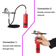 Cheap Airbrush Kit with Dual Action Gravity Type Spray Gun for Art Model Body Paint Artist Makeup Nail Tattoos Cake Tools