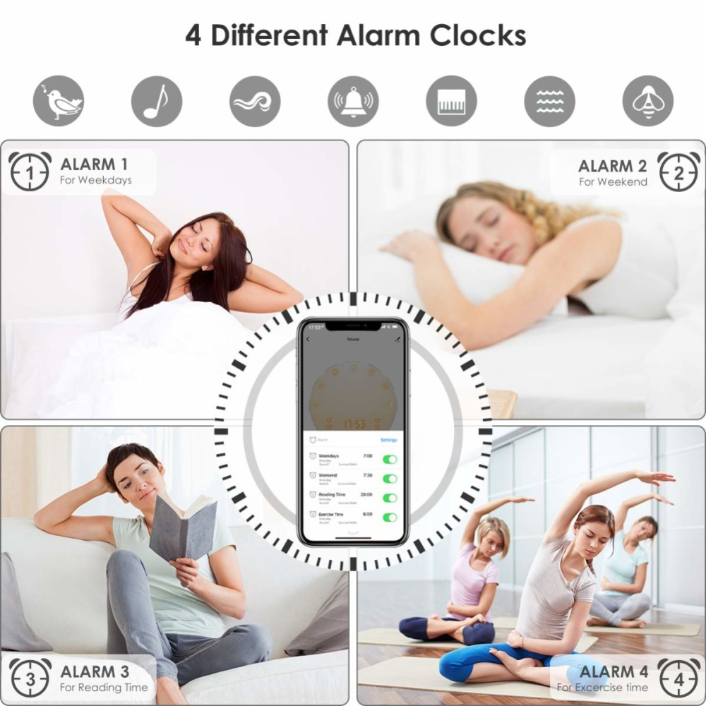WIFI-smart-voice-control-alarm-clock-wake-digital-snooze-nature-night-light-clock-work-with-Alexa (4)