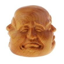 Kolekcje chiński ręcznie rzeźbione drewniane buddyzm tybetański głowa buddy posągi