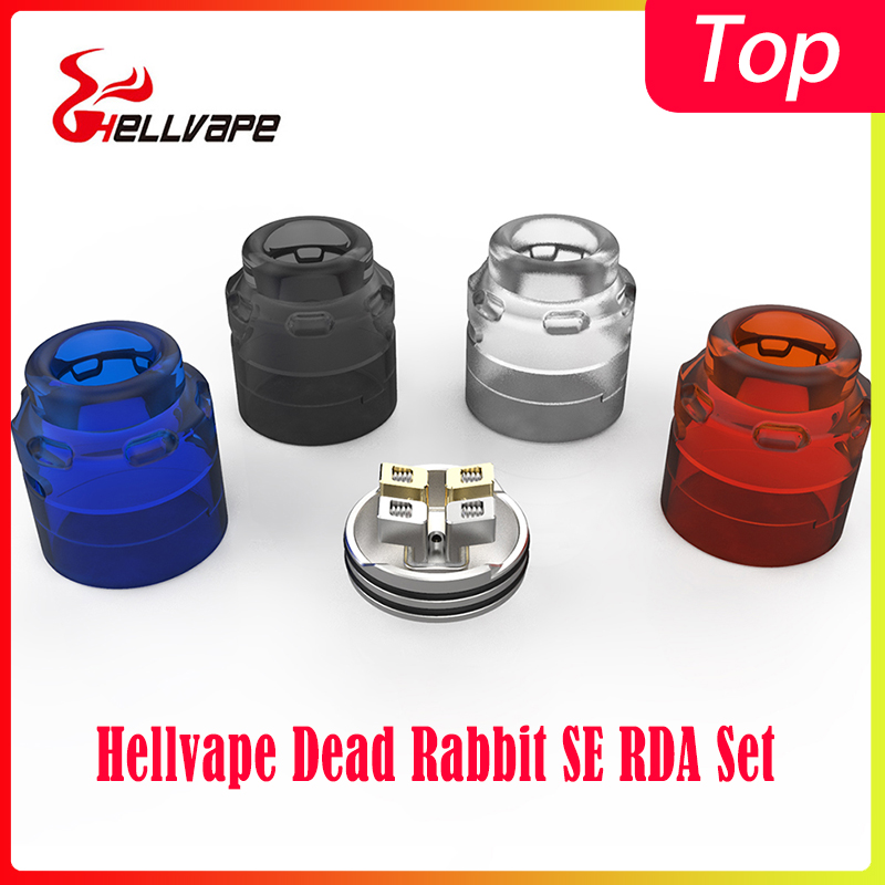 New Arrival Hellvape Dead Rabbit SE RDA Set With Dead Rabbit V2 Cap Positive Pin&BF Squonk 510 Pin Tank Vs Zeus X