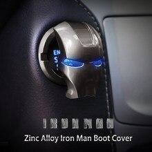 Cubierta de botón de encendido y apagado de motor de coche, Iron Man, para Mazda 2, 3, 5, 6 MS, CX-4, CX-5, CX-3, CX-9, MX3, MX5, CX-30