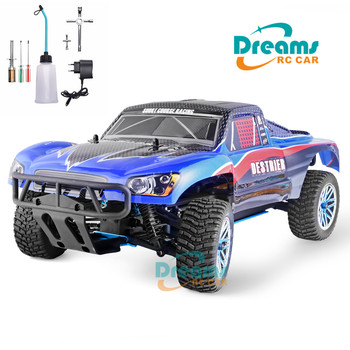 цена на HSP RC Car 1:10 Scale 4wd Two Speed Rc Toy Nitro Gas Power Off Road Short Course Truck 94155 High Speed Hobby Remote Control Car