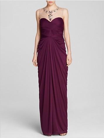 Vestido De Festa Longo Purple Chiffon Long Dress Party Evening Elegant Dress Formal Dresses Robe De Soiree 2019 New Fashion