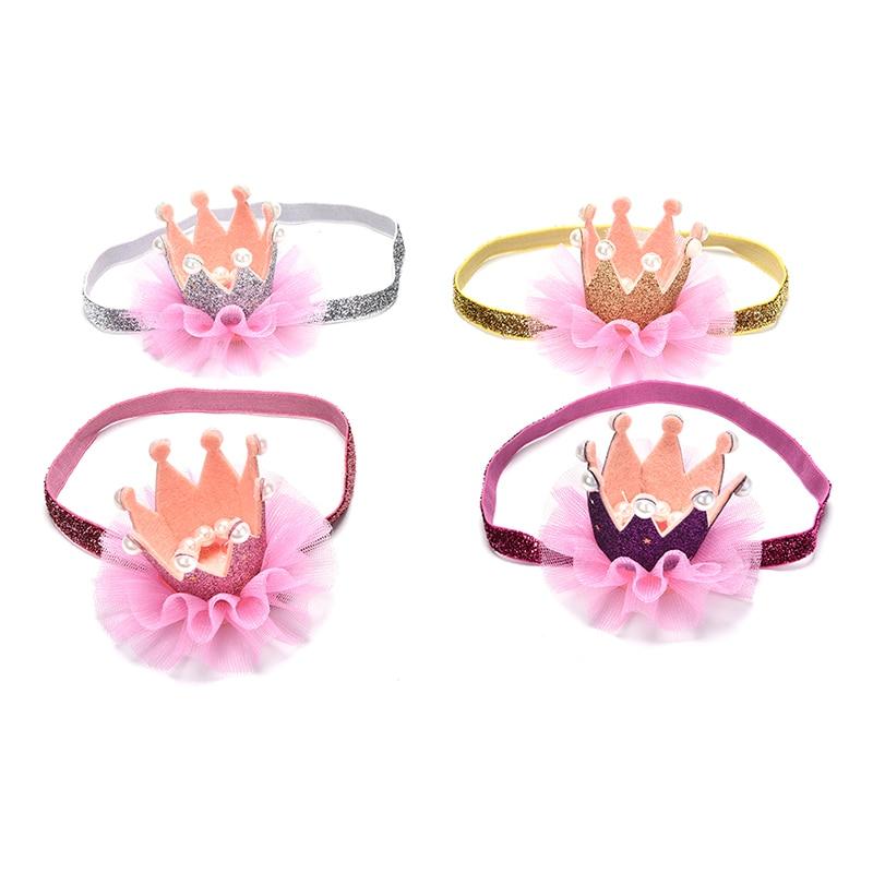 Newborn Crown Headband Baby-Girls Hair-Accessories Photo-Props Infant Princess Kids Children