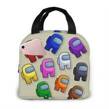 Портативная изолированная сумка для обеда с мультяшным принтом