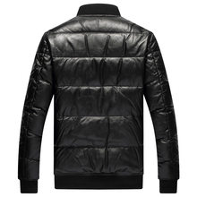 Down Winter Men Genuine Sheepskin Coat Plus Size Baseball Jacket Real Leather Jackets 2020 1229 KJ4911(China)