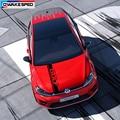 Гоночный спортивный автомобиль капот полосы капота для Volkswagen Golf MK4 5 6 7 8 GTD-GTI-RLINE-TSI Авто Крышка двигателя Декор виниловые наклейки