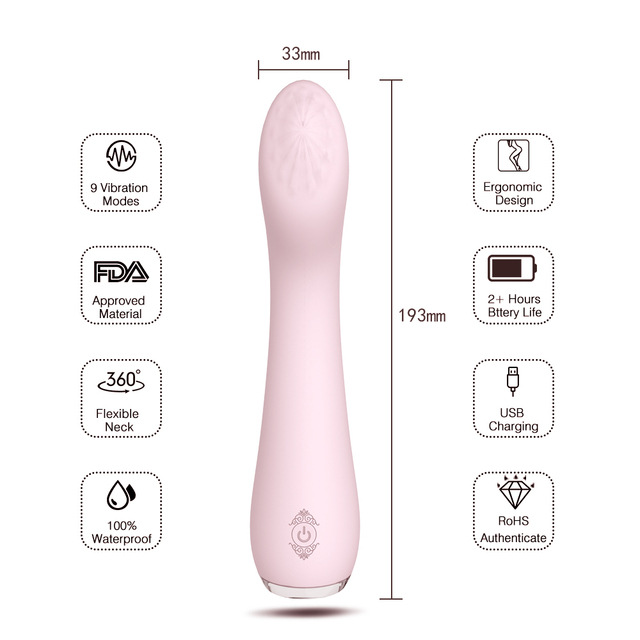 G Spot Dildo Vibrator Sex Toys for Woman Silicone Waterproof 9 Mode Vibrador Erotic G-spot Clitoris Massage Female Masturbator