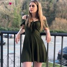 Сексуальные платья для выпускного вечера, красивые платья трапециевидной формы с v-образным вырезом и бантом с коротким рукавом, зеленые вязаные платья для выпускного вечера, Vestido Festa Curto