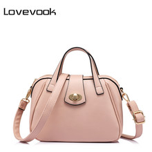 LOVEVOOK brand fashion luxury handbags women bags designer high quality messenger bag female doctor shoulder bag Pink/Blue/Red(China)