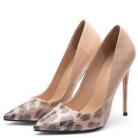 YECHNE LeopardPrint women High heels Shoes Woman Wedding shoes Apricot Party Pumps Plus Size Fashion Sexy Punch Shoes Pumps