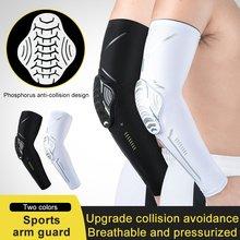 1 pçs braço apoio favo de mel guarda braço anti-colisão pressão cotovelo capa almofadas de fitness armguards esportes ciclismo aquecedores de braço