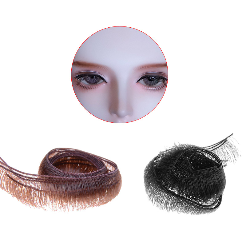 10pcs/lot Eyelashes For Doll Baby Dolls Accessories Doll Eyelashes Accessory 0.5/0.8/1.0cm Width Wholesale Dolls Accessories