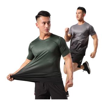 Męskie koszulki do biegania trening kompresyjny sport T shirt siłownia z krótkim rękawem szybkie suche elastyczne koszulki do biegania koszulki treningowe tanie i dobre opinie WIROFKER CN (pochodzenie) summer Poliester Pasuje prawda na wymiar weź swój normalny rozmiar Running Shirts Compression Tight Gym Top