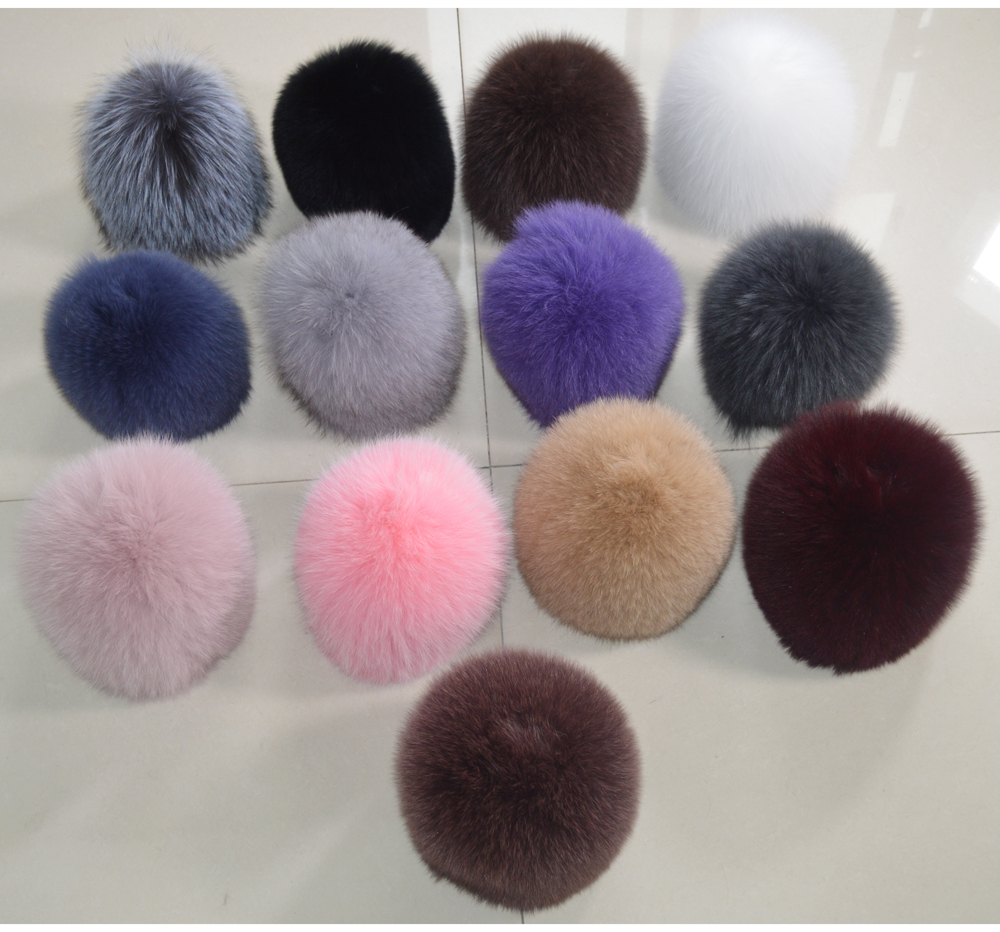 H14632b77cb864074a90d82d2e9dbc82cw - New Luxury 100% Natural Real Fox Fur Hat Women Winter Knitted Real Fox Fur Bomber Cap Girls Warm Soft Fox Fur Beanies Hats