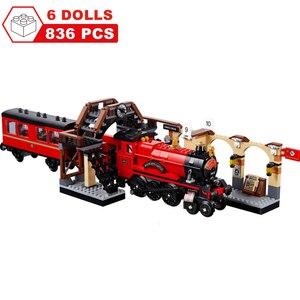 Image 5 - Movie Harri Pottered Hogwarte Castle Express Train Magic House Building Block  Bricks Toy for Children