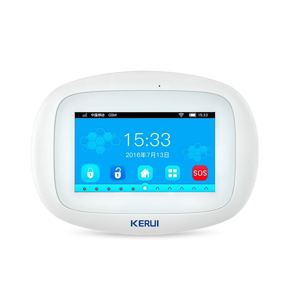 KERUI K52 WIFI GSM Alarm Systems Panel 4.3 Inch TFT Color Display Security Home Smart Residential Wireless Burglar Alarm Host