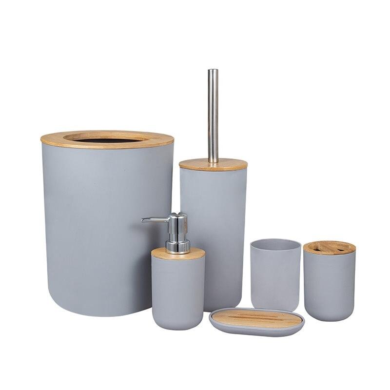 6Pcs Bathroom Accessories Toothbrush Holder Bin Soap Dish Dispenser Tumbler sanitizer uv uv sanitizing wand sanitizer
