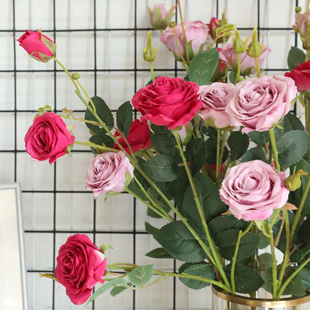 Rose Fai Da Te us $1.03 26% di sconto|fiore artificiale 1pc flessibile giardino di rose  fai da te festa di nozze festival di decorazione della casa|fiori secchi e