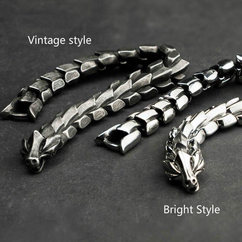 Bracelet dragon Yage acier inoxydable 4