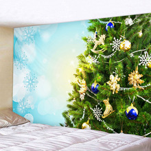 Decorative christmas tree Art Home Wall Hanging Tapestry Wall Ornamentation Christmas Wall Decor High Quality Tapestry Home Deco wall hanging art decor sunshine tree print tapestry