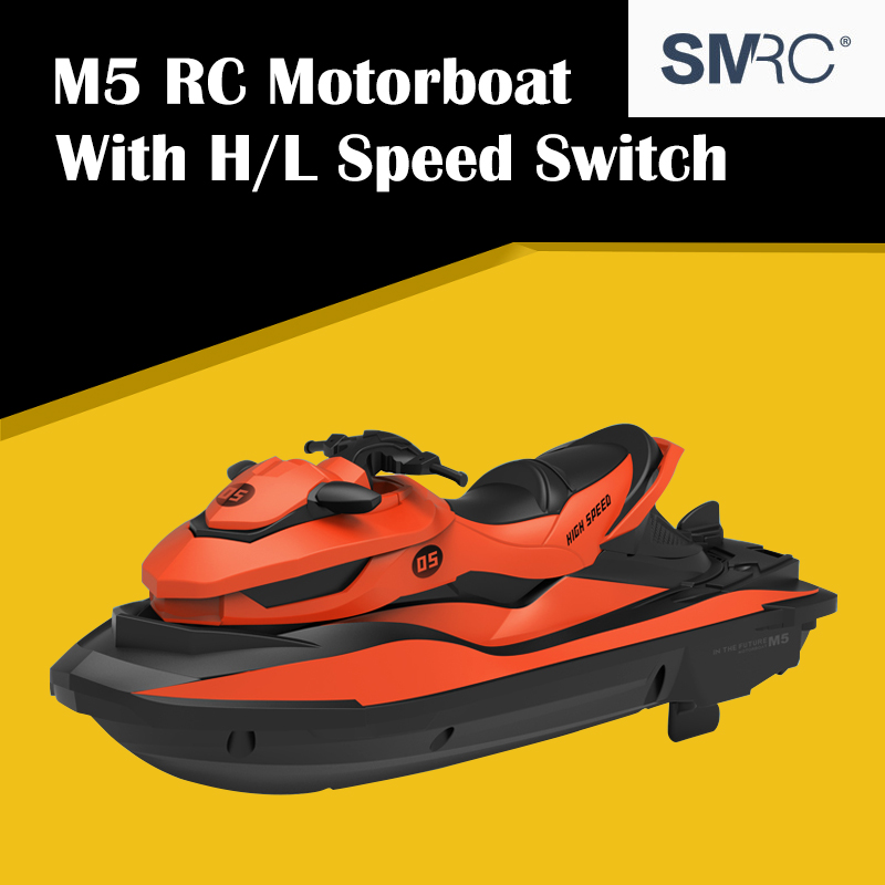 Good Sale <font><b>SMRC</b></font> M5 2.4G Electric RC Boat Double Motor RTR Mini Remote Control Ship Motorboat Kids' Outdoor Indoor Water <font><b>Toys</b></font> image