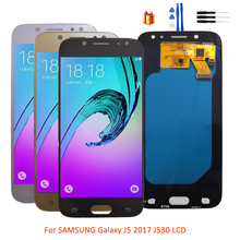 Super AMOLED For SAMSUNG Galaxy J5 2017 J5 LCD Display For J530F Touch Screen + LCD Display Digitizer Assembly Replacement oem lcd display touch screen digitizer assembly for samsung galaxy j5 j5008 17pin white black gold with tempered glass tools