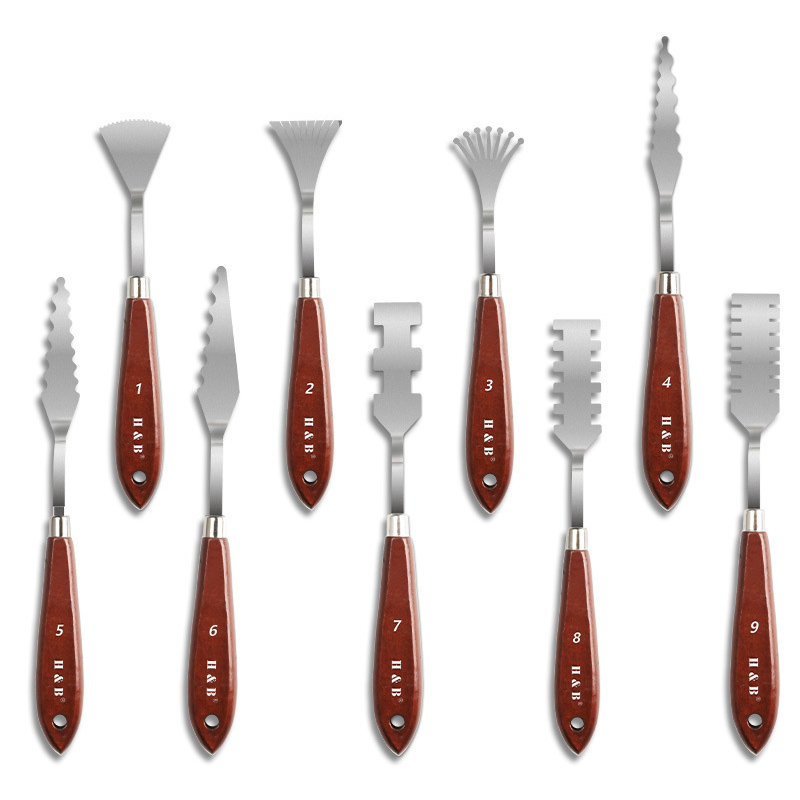 Stainless Steel Palette Knife Irregular Soft Metal Material Paint Tools Multifunction Scraper Spatula Art Supplies For Artist