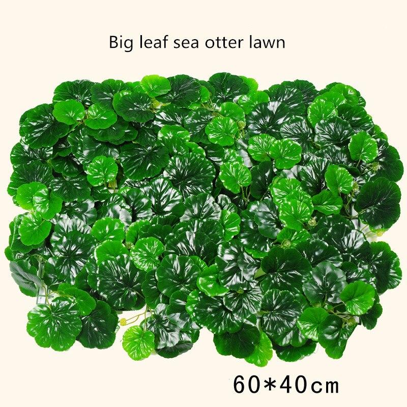 Planta verde Artificial pared de plástico falso césped escenario telón de fondo decorativo fábrica al por mayor de flores artificiales
