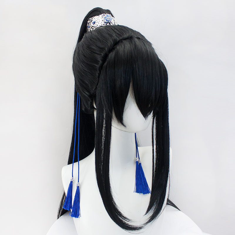 LVHAN Xueyang M bangs split tiger clip Natural black Antique style Cosplay wig High quality high temperature fiber