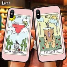 Ästhetische Kunst pizza kaffee Luxus Anti-herbst Telefon Fall Für iPhone 11 Pro XS Max X XR 6S 6 7 8 Plus 5S Weiche Rückseitige Abdeckung
