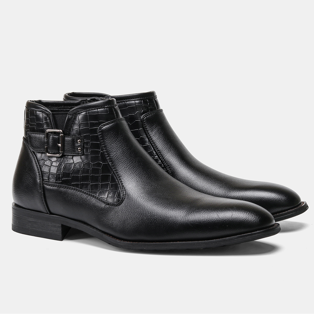 40-46 Men ankle Boots Comfortable Lather Snow Boots 2020 Non-Slip warm men's winter Dress shoes #DM5281C1 3