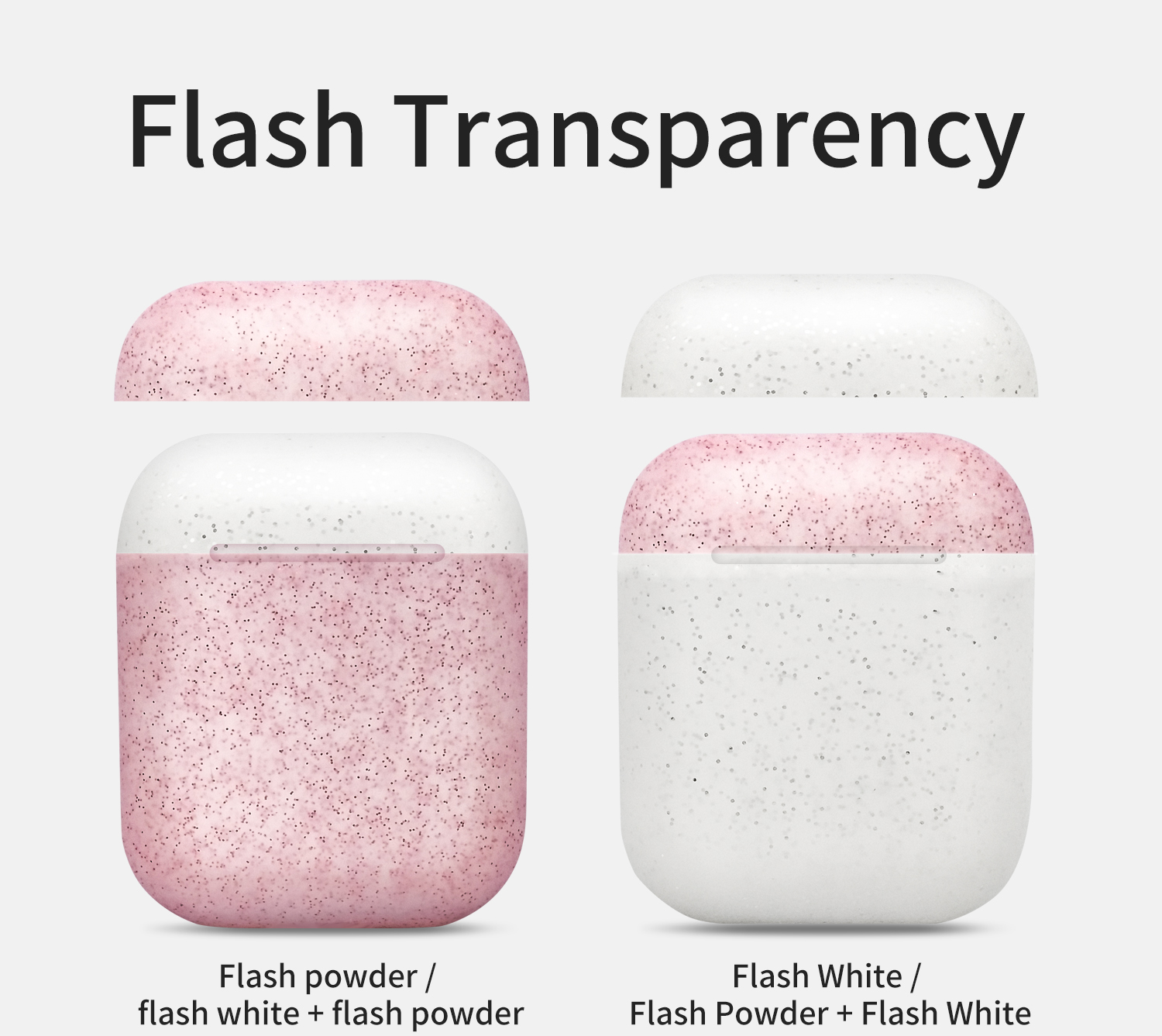 Solid color silicone earphone cover for new airpods six generations of protective cover glitter / luminous ribbon packaging with