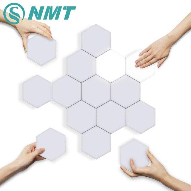 קוונטי DIY מנורת מגע רגיש חיישן מודולרי משושה אור LED מגנטי אורות קיר מנורת חידוש Creative קישוט