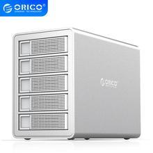 ORICO wielu Bay 3.5 ''aluminium przedsiębiorstwa stacja dokująca HDD 32/64/80TB dysk twardy SATA na USB3.0 150W moc wewnętrzna obudowa HDD z Raid