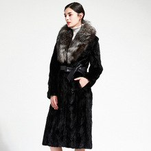 Pur Coat Faux-Fur-Belt Long-Pockets Black Winter Women Thick with Really Warm Cotday