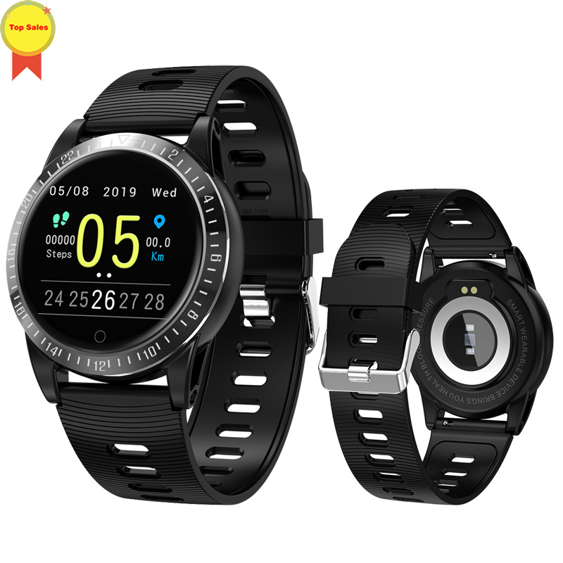 Bracelet intelligent moniteur de pression artérielle fréquence cardiaque montre intelligente Mp3 bracelet intelligent tracker de fitness pour huawei ios PK mi bande 4 - 4