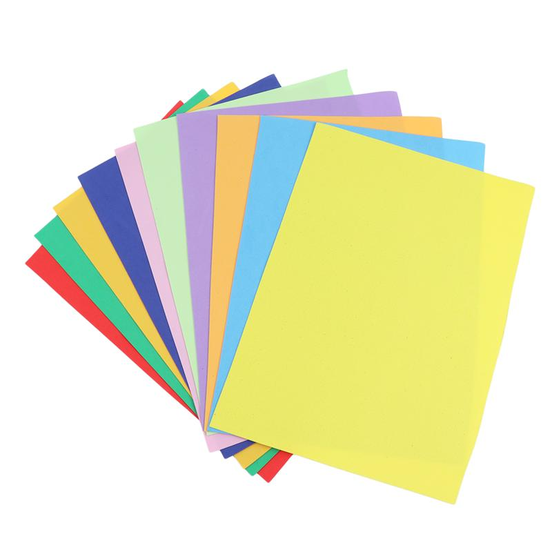10Pcs Colorful Foam Sheets DIY Foam Sheets Paper Children Sponge Paper For DIY Craft Handmade Materials